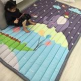 SXFYGYQ Baby Game Pad Falten Dicke rutschfeste Matte Wohnzimmer Schlafzimmer tragbaren Teppich Kinder Klettermatte,K,145X195CM