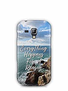 YuBingo Everything Happens For A Reason Designer Mobile Case Back Cover for Samsung Galaxy S Duos