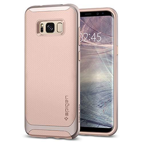 Spigen 565CS21601 Neo Hybrid für Samsung Galaxy S8 Hülle, Zweiteilige Handyhülle Modische Muster Silikon und PC Rahmen Schutzhülle Case Pale Dogwood