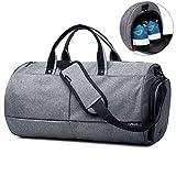 Valleycomfy Sac de sport Gym Sacs Chaussures de grande capacité avec poche à la main/épaule/sac en bandoulière Fitness bagages Sacs de, Gris