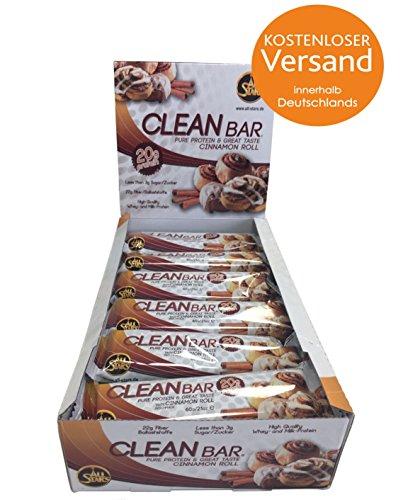 ALL STARS Clean Bar 12 x 60g Zimt Rolle (Cinnamon Roll) - Zimt 12 Bar