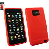 Emartbuy® Samsung Galaxy S2 S II I9100 Silikon Case Cover Tasche Hülle Schutzhülle Rot