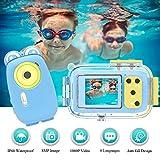 Kinderkamera Unterwasserkamera Digitalkamera Kinder 8MP 1080P HD Unterwasserkamera Kinder 2,0 Zoll IPS-Bildschirm Kamera Kinder mit Sicherer Weicher Silikon-Schutzhülle Weihnachten Geburtstag Geschenk