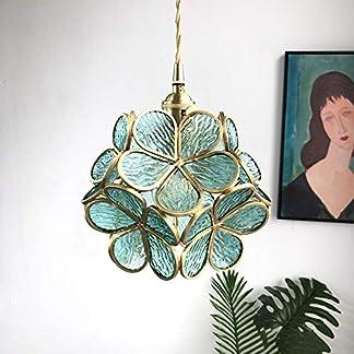 Lampadavetro fattomanoottone, lampadario nordico da comodino camera da letto ristorante portico ragazza cuore petali lampadario
