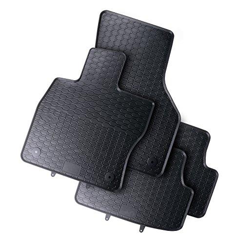 Tappeti Auto Tappetini in gomma su misura 1199107210011 set completo nero