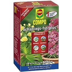 Compo - Insecticida concentrado antiparásitos, como pulgones, ácaros e insectos escama, muy efectivo, 100 ml