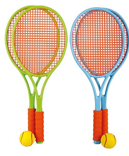 Family Tennis Set mit Bespannung Kinder Tennisschläger Softball