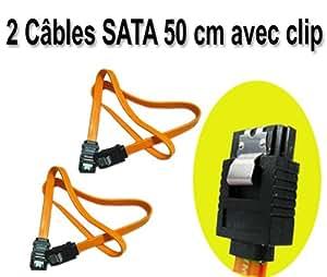 2 Cordons pour données SATA DATA (Câble SATA I ou II)