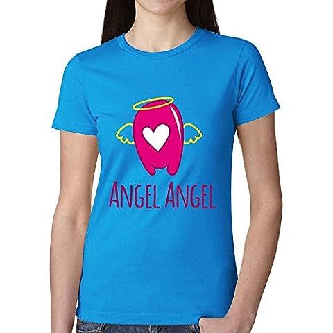 Angel Graphic T Camisas para mujer