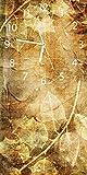 Wallario Design Wanduhr Herbstlaub aus Acrylglas, Größe 30 x 60 cm