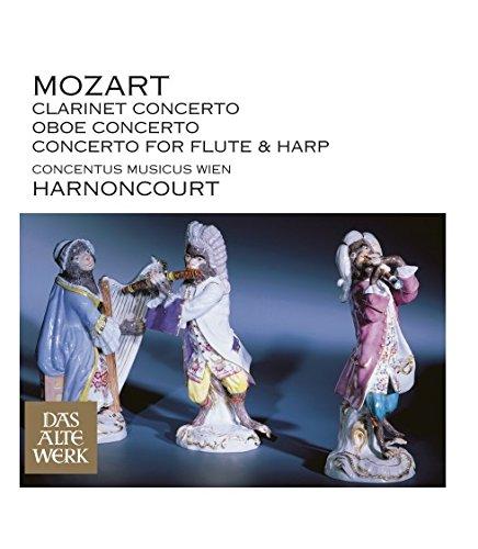Mozart : Concerto pour flûte et harpe K299 - Concerto pour hautbois K134 - Concerto pour clarinette K622