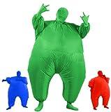 Aufblasbares Fett Dick Kleid Fasching Zweite Haut Anzug Karneval Luftschiff Kostüm - Grün