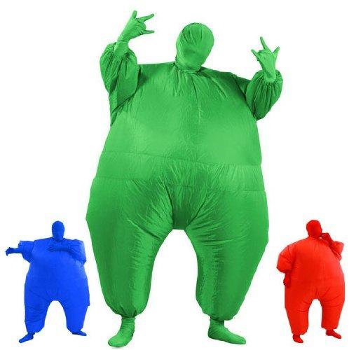 Kostüm Anonyme Anzug - Aufblasbares Fett Dick Kleid Fasching Zweite Haut Anzug Karneval Luftschiff Kostüm - Grün