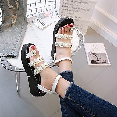 Scarpe DonnaDonne Sandali Primavera Estate Club scarpe gladiatore Comfort flangia Infradito dolce US6.5-7 / EU37 / UK4.5-5 / CN37