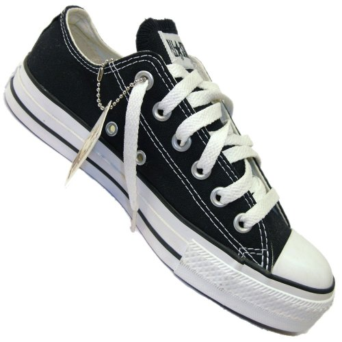 Converse All Star Ox Canvas Seasonal, Scarpe da ginnastica unisex adulto Nero