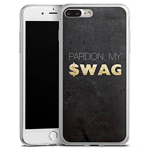Apple iPhone 8 Slim Case Silikon Hülle Schutzhülle Pardon Swag Glitter Silikon Slim Case transparent