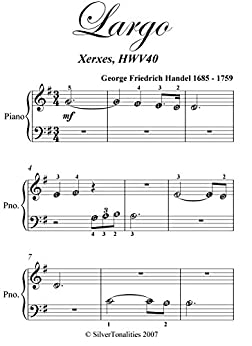 Largo Xerxes Handel Beginner Piano Sheet Music (English Edition) par [Handel, George Friedrich]