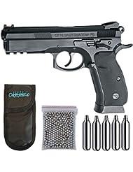 Pistola perdigon ASG17526 CZ SP-01 Shadow. + Funda Portabombonas + Balines + Bombonas co2. 23054/29318/38123