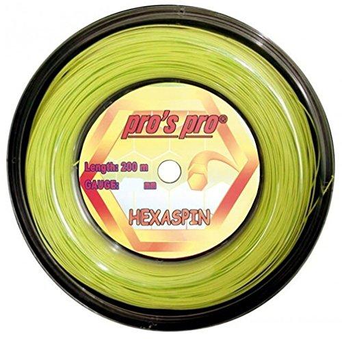 Pro Tennissaite Hexaspin Twist 1.25mm mit Spin 200m lime