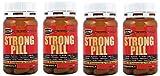 4 Flasche mit 60 Tabletten - 78 gr Pille Strong (für insgesamt 240 Tabletten - 312 gr) , starkes Stimulans mit:Taurin, Paulinia Cupana, Camellia Sinensis, Caffeine, Inositol, L-Tyrosin, Vitamin C, Niacin, Pantothensäure, Vitamin B6, Vitamin B2, Vitamin B1, Folsäure, Vitamin B12, ideal für die Bekämpfung von Müdigkeit, Energie, verbesserte Wachsamkeit