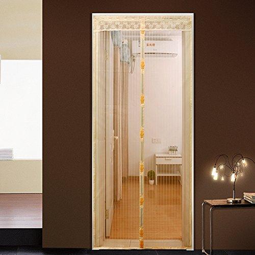 Türen mit magneten bildschirm,Türen für häuser bildschirm Velcro magnetische tür siebgewebe Der moskito Tür vorhang Magnetisch Hohe denisity Abgeschnitten Schlafzimmer Bildschirm-E 90x230cm(35x91inch)