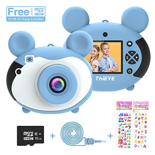 ThiEYE Kinder Spielzeug Kamera, 2,0 Zoll Farbdisplay 1200 Megapixel 1080p Videokamera mit 16 GB Speicherkarte und USB Kabel Geschenk und Spielzeug (Blau)