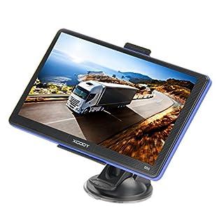 Xgody 886 7 Zoll kapazitiver Touchscreen Auto LKW GPS Navigationssystem 8 GB Navigator mit Navi FM MP3 Lebenslange Kartenaktualisierung mit Sonnenschutz und Spoken Turn-by-Turn Directions