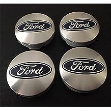 4 x Ford Plata Azul Logo 54 mm Buje tapas Buje Tapa Tapacubos Llanta Tapa Cilindro