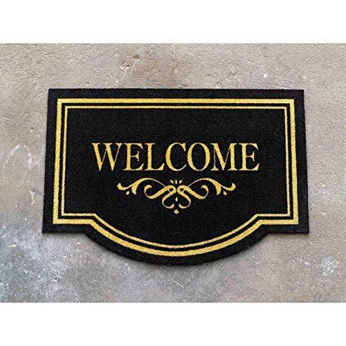 Hanse Home Fußmatte Schmutzfangmatte Welcome Schwarz, 45x65 cm