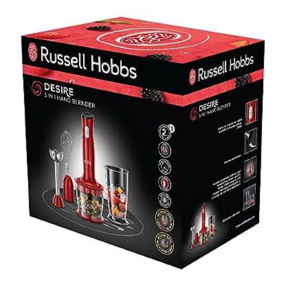 Russell-Hobbs-24730-56-Desire-Food-Processor-2-Geschwindigkeitsstufen-Impuls-Ice-Crush-Funktion-RotSchwarz