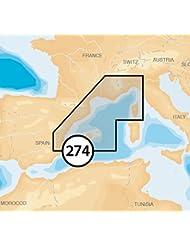 Navionics Platinum+ XL MicroSD - Carta náutica, zona 5P274 Mediterraneo Noroeste