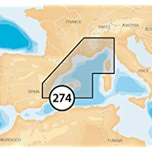 Navionics Platinum Plus 5P274XL Mediterranean North-West Marine Charts on SD/MSD