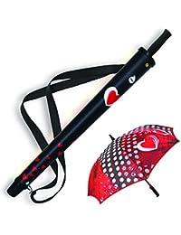 Paraguas largo con funda Pagua J1501-7 Rojo/negro