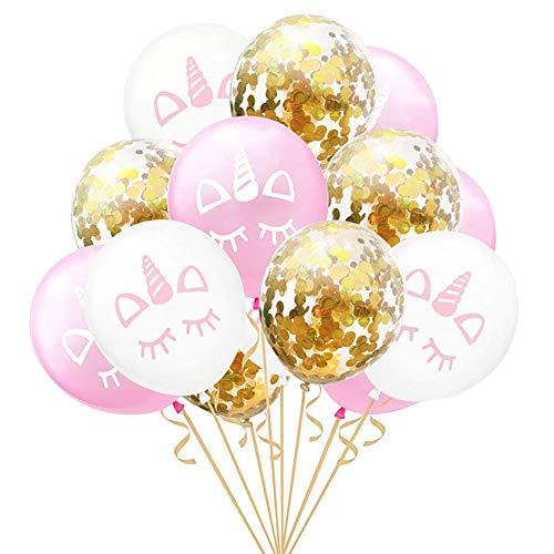 Tolyneil balloon rose gold confetti balloon 30,5cm decorazione feste palloncini in lattice unicorn party supplies rosa e oro rose gold