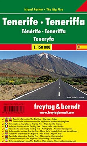 Tenerife, mapa de carreteras de bolsillo plastificado Island Pocket. Escala 1:150.000. Freytag & Berndt. (Auto karte) por VV.AA.