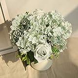 Gaddrt Künstliche Seide gefälschte Blumen Pfingstrose Blumen Hochzeit Bouquet Bridal Hydrangea Decor 8.5cm für Party, Hochzeit, Kunsthalle, Büro, Geschäft, Zuhause, Garten (Blau)