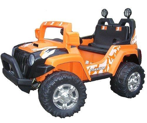 Imagen principal de crooza ® JEEP - OffRoad Coche con Motor y Batería de 12V coches para niños **2x MOTORES** naranja