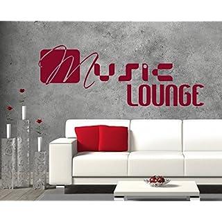 arslinea Wandtattoo - Music lounge, 100x37 cm, grün