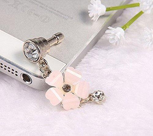 caolator-blume-pink-universelle-anti-dust-plug-35mm-strass-staubdichte-stecker-stopsel-crystal-diamo