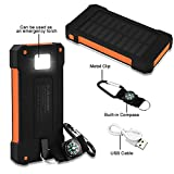 Best Solar Charger Androids - Di Grazia 10000 mAH Solar Charger Power Bank Review
