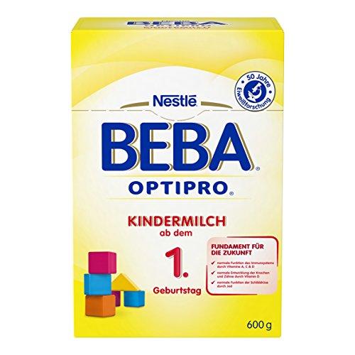 Preisvergleich Produktbild Nestlé BEBA Optipro Kindermilch,  ab dem 1. Geburtstag,  6er Pack (6 x 600 g),  Pulver,  in der wiederverschließbaren Faltschachtel (2 x 300 g Beutel)