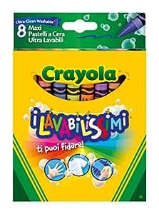 Crayola - 52-3282-e-000 - Crayons De Couleurs - La Cire Ultra Lavables - 8 Gros Pièces