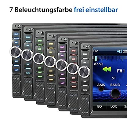 XOMAX-XM-2V719-Autoradio-mit-Mirrorlink-fr-Android-Bluetooth-Freisprecheinrichtung-7-Zoll-18cm-Touchscreen-Bildschirm-7-Beleuchtungsfarben-FM-AUX-SD-USB-2-DIN