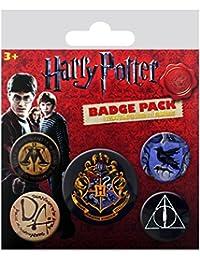 Harry Potter - Pack 5 badges Hogwarts