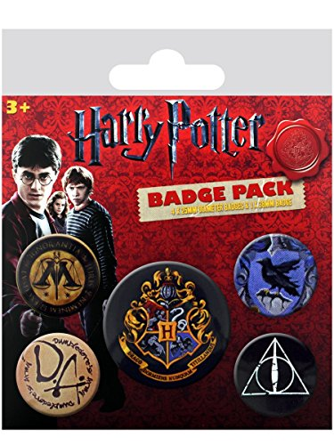 Pyramid International Harry Potter Hogwarts Badge, mehrfarbig, 10 x 12,5 x 1,3 cm Disney Store-pins