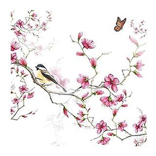 Ambiente Napkin 33 Centimeter Bird and Blossom Serviettes