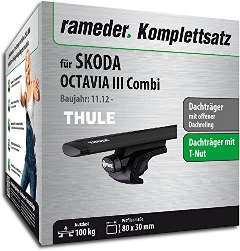 Rameder Komplettsatz, Dachträger WingBar für Skoda OCTAVIA Combi (118176-11196-187)