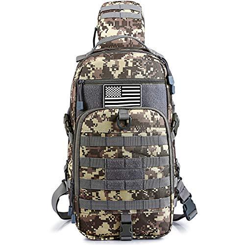 G4Free Taktischer Sling Rucksack-Set, Molle Brust-Schulter-Pack, kleine Rover Reihe, Tagesrucksack, Militär, EDC Entwicklungstasche, ACU -
