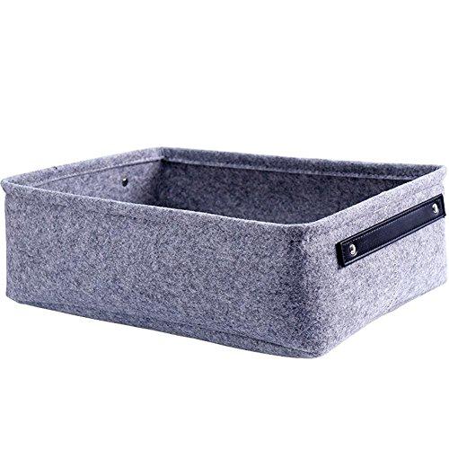 Johlye cesto portaoggetti cestini portaoggetti in feltro salotto tavolino da salotto contenitore di immagazzinaggio decorativo panno portaoggetti in feltro paniere armadio con maniglie