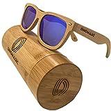 Polarisierte & schwimmende Bambus holz Sonnenbrille für Männer und Frauen